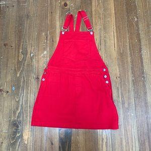 Forever 21 Red Skirt Overalls